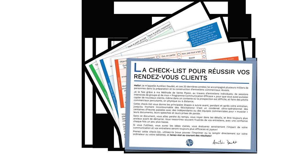 Télécharger la check-list pour réussir vos rendez-vous clients